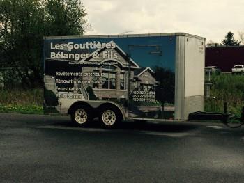 Usine mobile gouttières - Gouttières Bélanger et fils