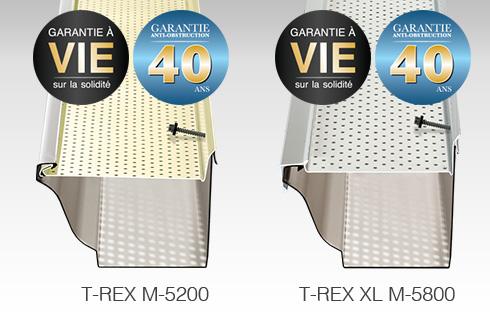 Pour protéger vos gouttières existantes, nous vous proposons le pare-feuilles Gutter Clean System de ALU-REX M-5200  M-5800
